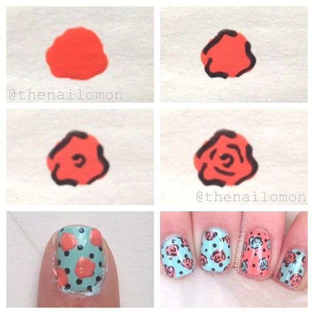 Rose Nail Tutorials You Must Love for Summer - #Love #Nail #Rose .