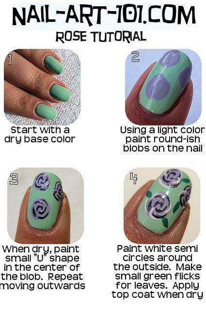 Rose Nail Tutorials You Must Love for Summer | Jolis ongles .