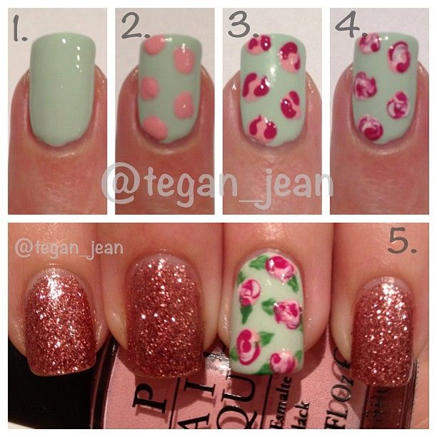 Rose Nail Tutorials You Must Love for Summer - Pretty Desig