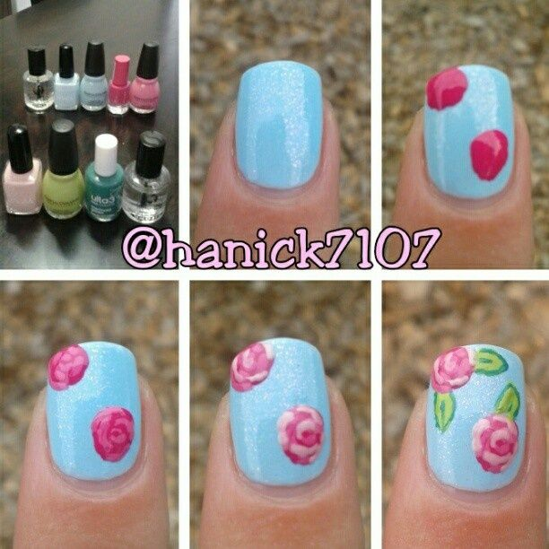 Rose Nail Tutorials You Must Love for Summer (mit Bildern) | Rose .