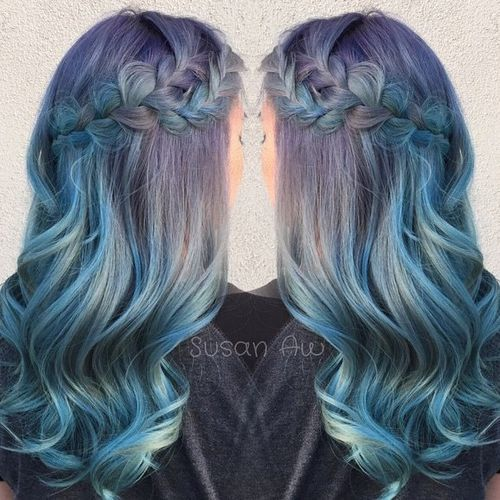 20 Sassy Blue Hair Colors - Ombre, Balayage, Dark Blue Hairstyles .