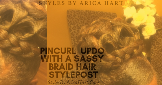 Pincurl Updo With A Sassy Braid Hair Sty