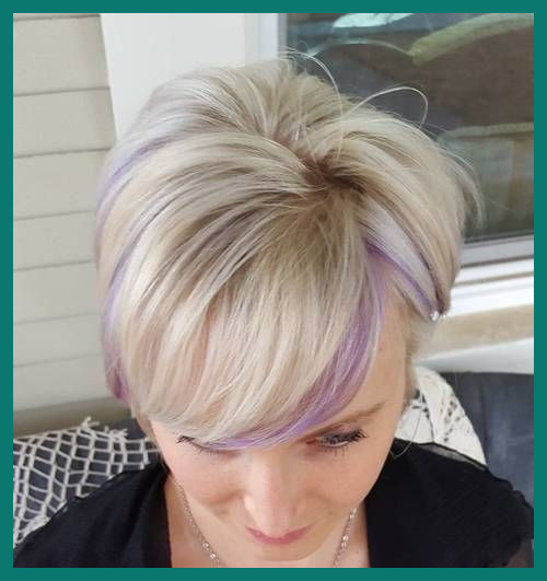 Short Hairstyles with Color Streaks 222203 22 Sassy Purple .