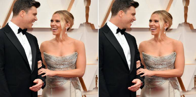 Is Scarlett Johansson Pregnant With Colin Jost's Baby? Oscars Red .