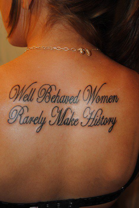 40 Great Tattoo Quotes for Girls - Meaningful Quote Tattoos for .