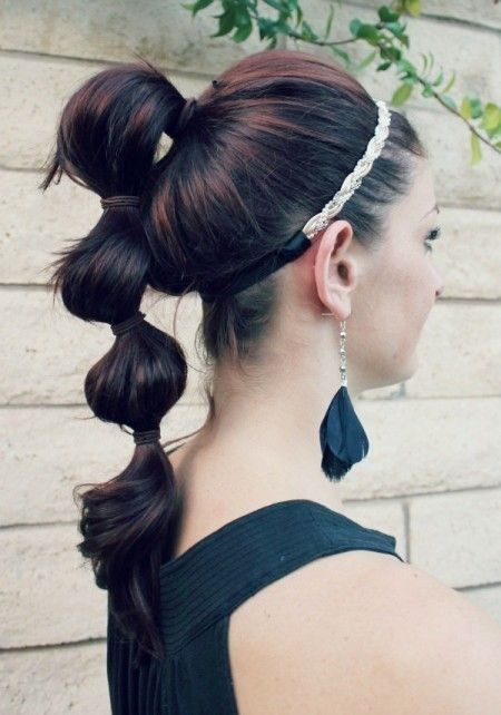 Sectioned Ponytail Hairstyle New Trend | Cute ponytail hairstyles .