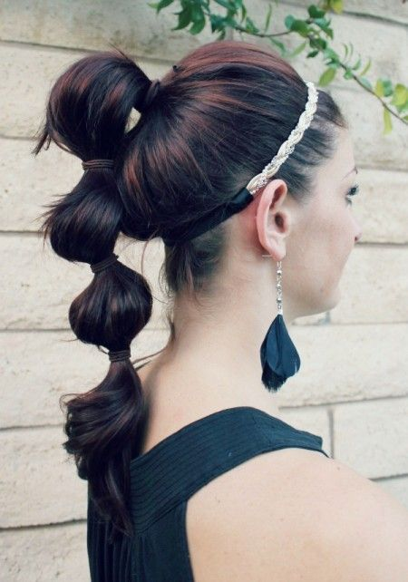 Sectioned Ponytails