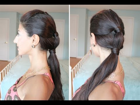 Heatless, Summer Sectioned Ponytail - YouTu