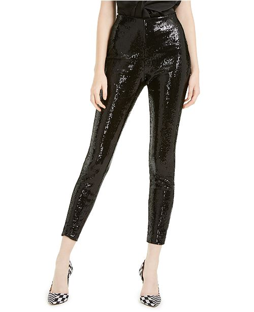 INC International Concepts INC Sequined Skinny Ankle Pants .
