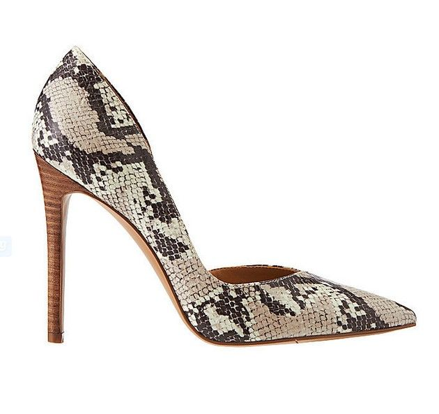 Faux Snakeskin Heel ($79) | Women shoes, Snakeskin heels, Fabulous .