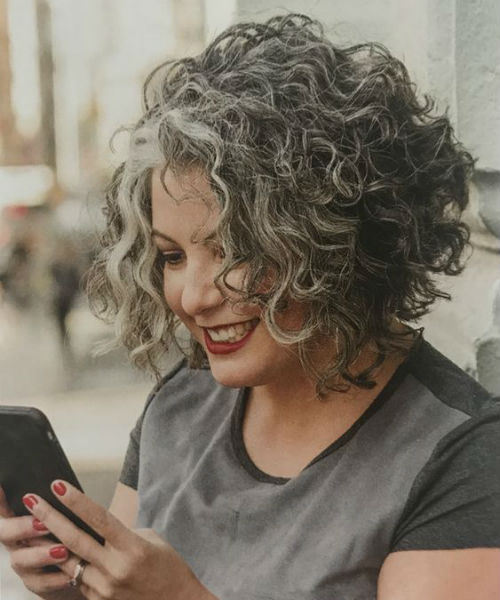 Chic Grey Short Curly Hairstyles to Get A Coolest Look This Year .