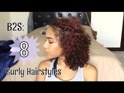 8 Short Curly Hairstyles for Back to School | heyitsdacia - YouTu