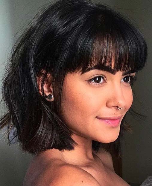 23 Trendy Ways to Wear Short Hair with Bangs   StayGl