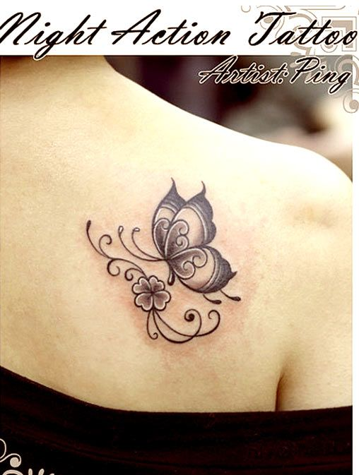 butterfly tattoo (With images) | Butterfly tattoos for women .