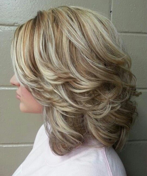 Shoulder Length Thick Layered Hairstyles 2016 for Women | Full Do