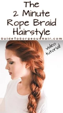 The 2 Minute Rope Braid Hairstyle is Amazing | Braided hairstyles .