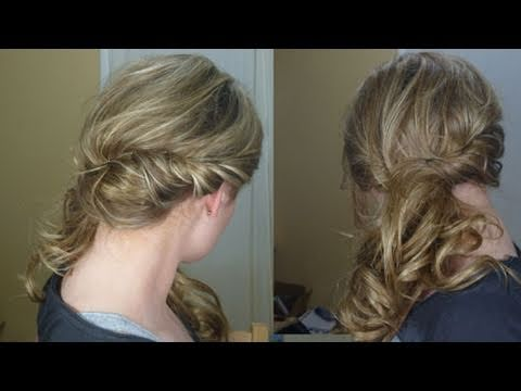 Loose Side Swept Curly Hair - YouTu
