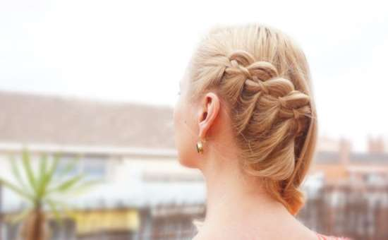 SIDE SWEPT 4 STRAND LACE BRAID TUTORIAL - Hairsaffai