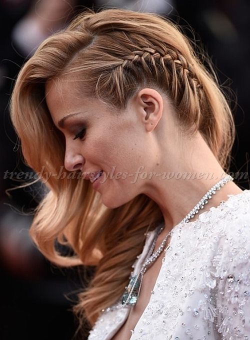 side swept hairstyle with side braid   Evening hairstyles, Hair .