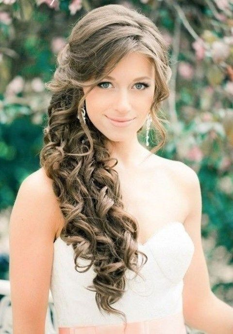 40 Gorgeous Side Swept Wedding Hairstyles | Wedding hair side .