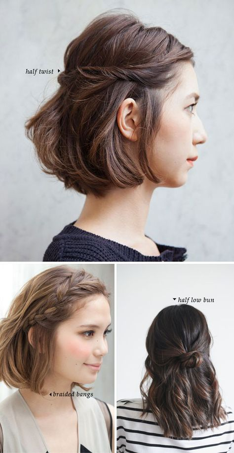 Short Hair Do's / 10 Quick and Easy Styles | Short hair dos, Short .
