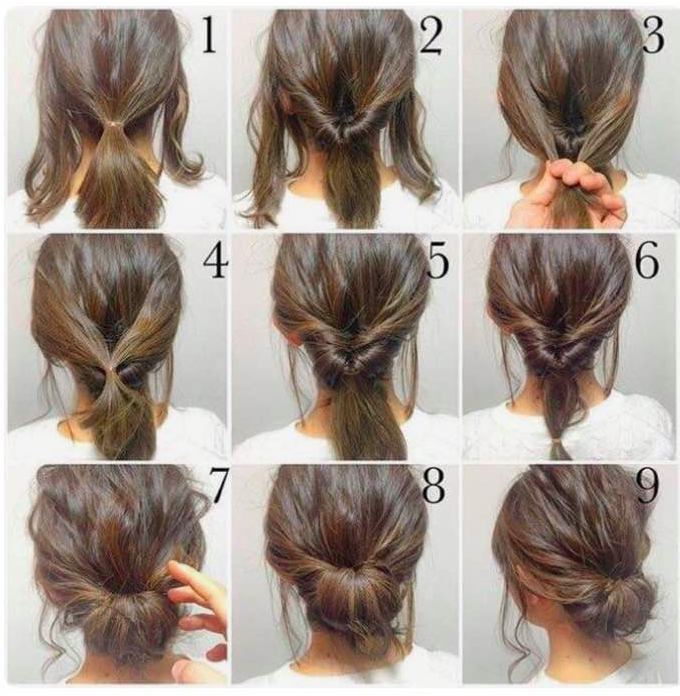 Updo – As Easy As It Gets (YouBlush) | Medium hair styles, Work .