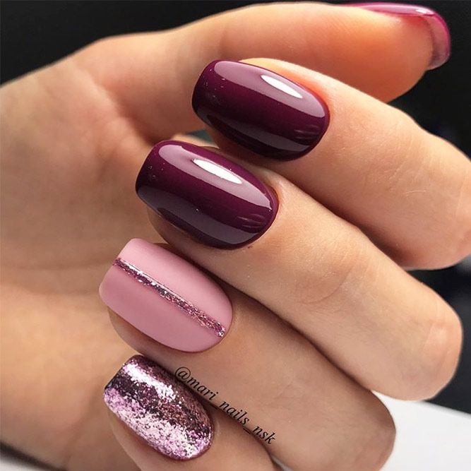 57 Must Try Fall Nail Designs And Ideas | Simple nails, Simple .
