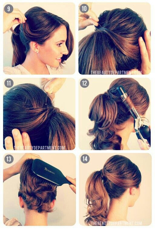 10 Quick and Simple Ponytail Tutorials for Fall | Hair, Ponytail .