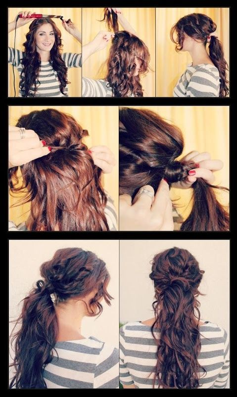 Simple Ponytail Tutorials for Fall