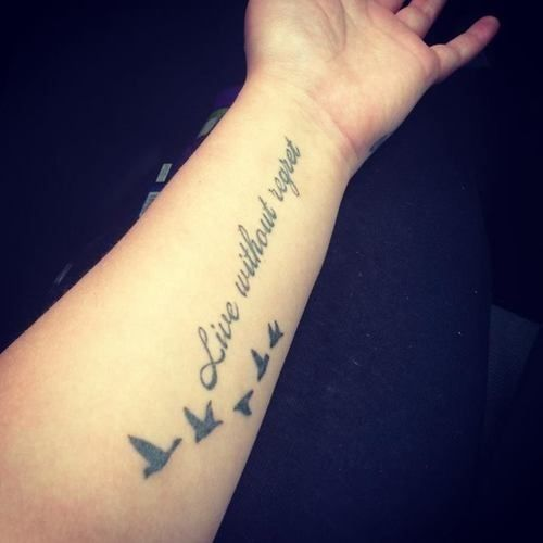 40 Simple Quote Tattoo Designs (10) | Tattoo quotes, Tattoo quotes .
