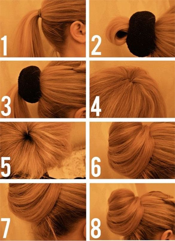 How to Do a Messy Bun with Long Hair: 4 Bun Styles | Updo .