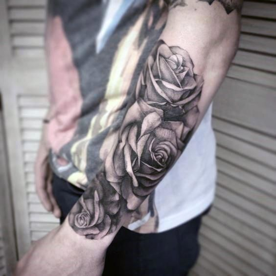 90 Realistic Rose Tattoo Designs For Men - Floral Ink Ideas | Rose .