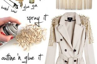 15 Sparkling DIY Crafts with Studs and Spikes | Diy fashion .