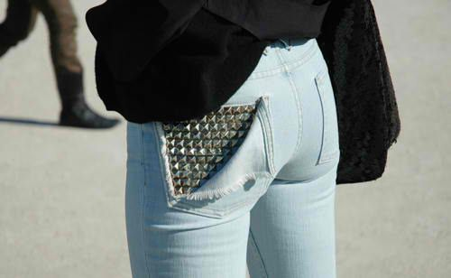 Stud details. | Studded jeans, Fashion, Studded den
