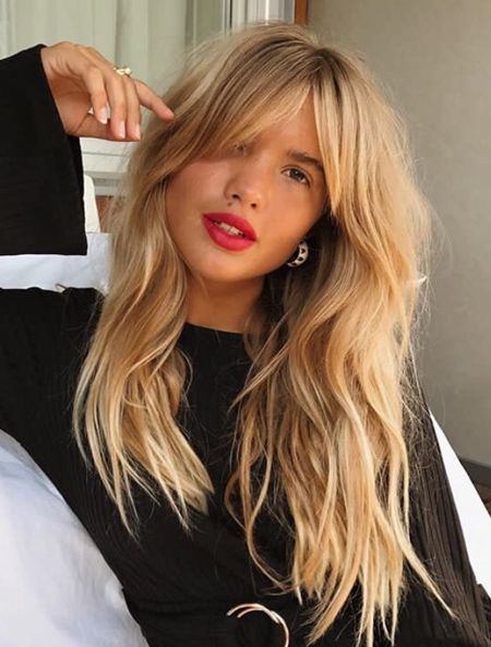 Curtain Bangs Hairstyles Ideas for Spring 2018 | Hair styles, Long .