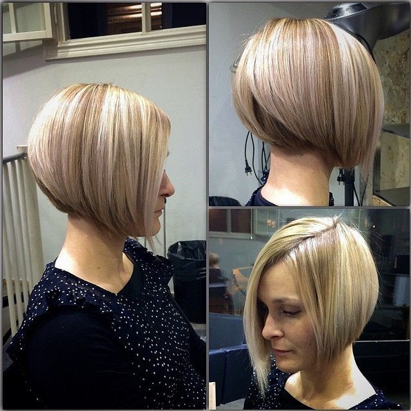 Stacked A-line Bob Hairstyles - PoPular Haircu
