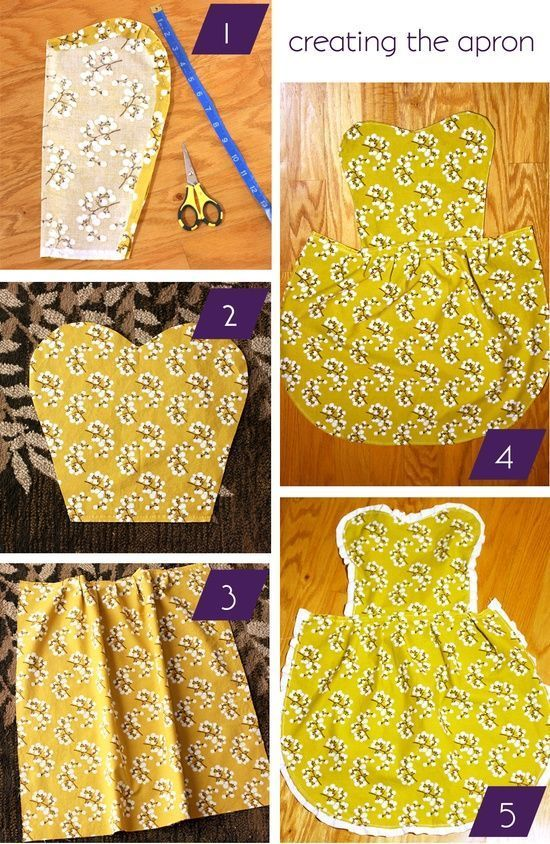 10 Easy Step by Step DIY Tutorials to Make Aprons | Diy apron .