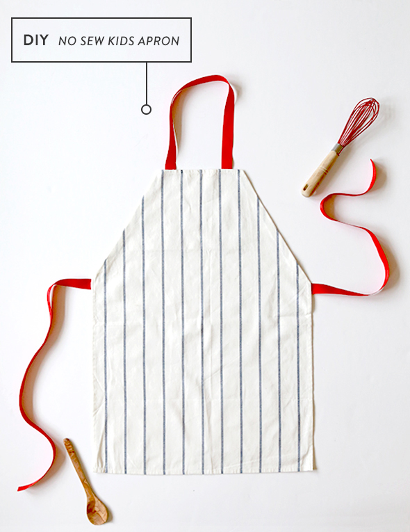 DIY No Sew Kids Apron (from a $1 Dish Towel!) - Say Y