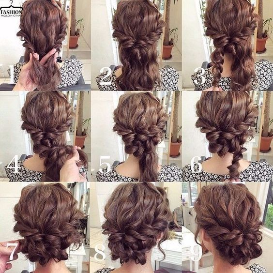 Step by Step Bun Updo Hair Tutorials | Hair styles, Hair lengths .