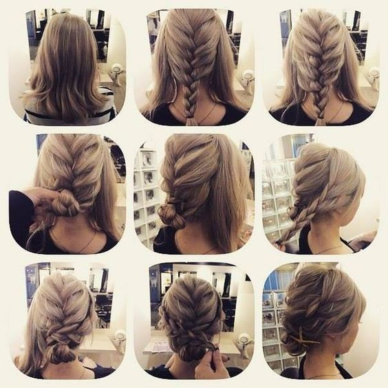 60 Medium Hair Updos that Are as Easy as 1,2,3 | Hair Motive Hair .