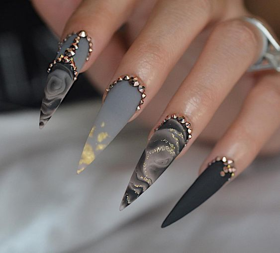 70+ Cool Stiletto Nail Ideas You'll Love to Try | Stiletto nails .