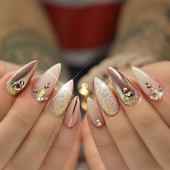 36 Simple Acrylic Stiletto Nails For Summer 2019 | Stiletto nails .