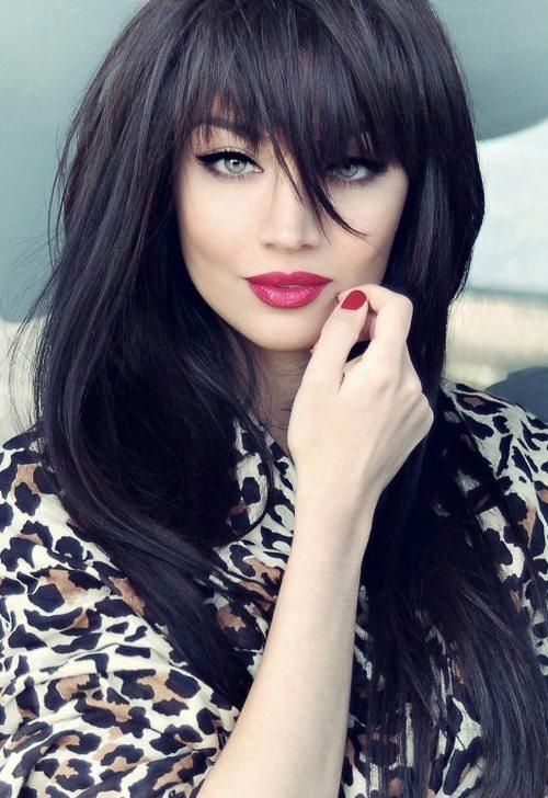 33 Stunning Hairstyles for Black Hair 2020 | Long dark hair, Long .