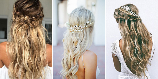 15 Chic Half Up Half Down Wedding Hairstyles for Long Hair .