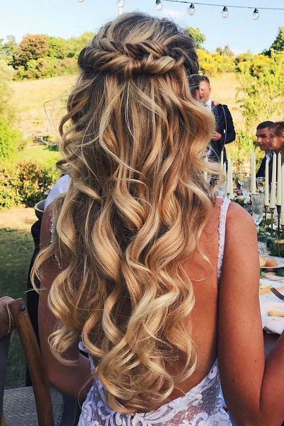 28 Stunning Half Up Half Down Hairstyles | Wedding hairstyles for .