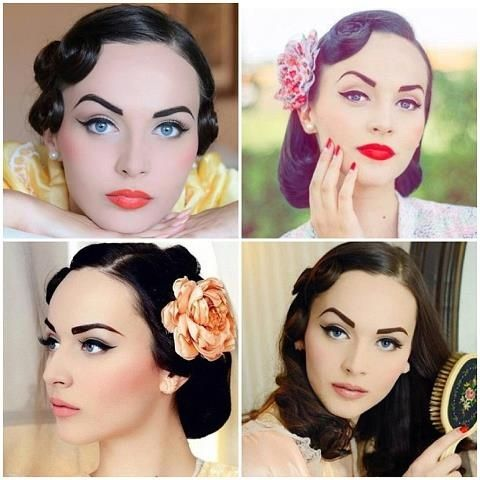 Vintage makeup looks. They're so absolutely beautiful and classy .