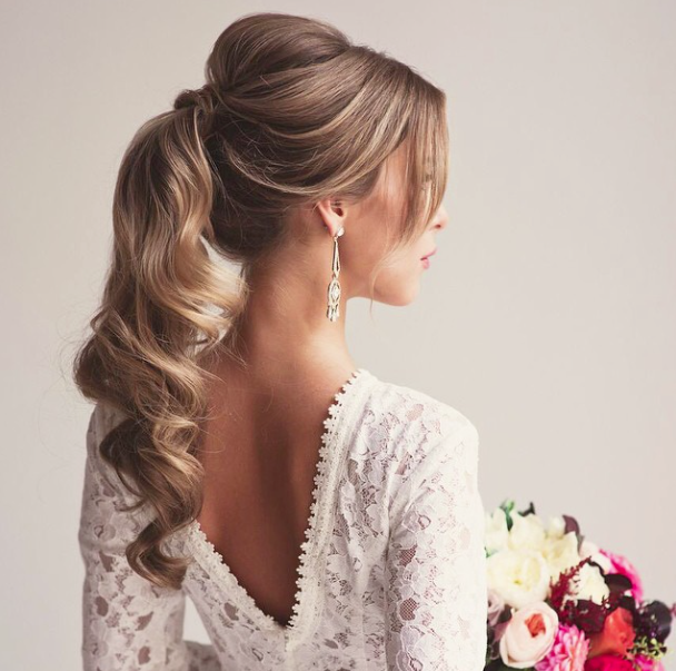 34 Stunning Wedding Hairstyles | Hair styles, Wedding hairstyles .