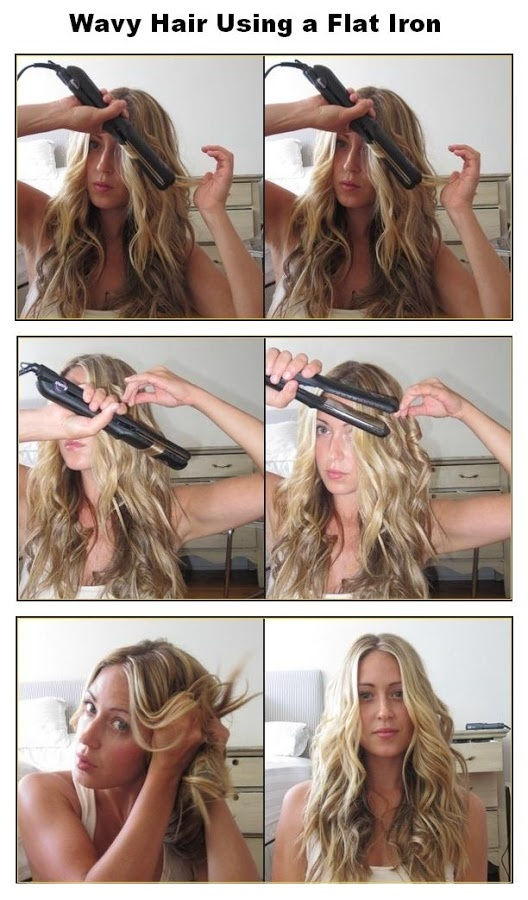 Style a Curly Hair with Your Flat Iron - Pretty Desig