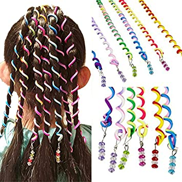 Amazon.com : Girls 12 Pcs Hair Twist DIY Tool Stylish Hair .