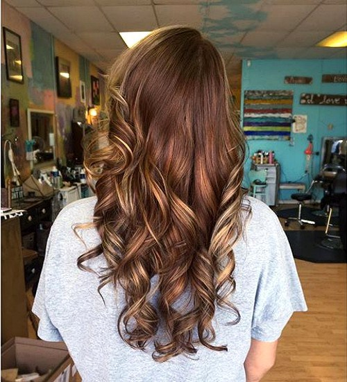 Stylish Brown Chocolate Hair with Blonde Highlights   Styles Week